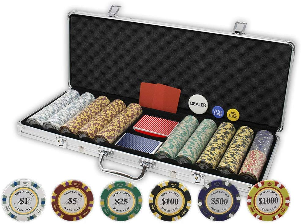 Da Vinci Monte Carlo Poker Club Set, 14 gram, 500-count