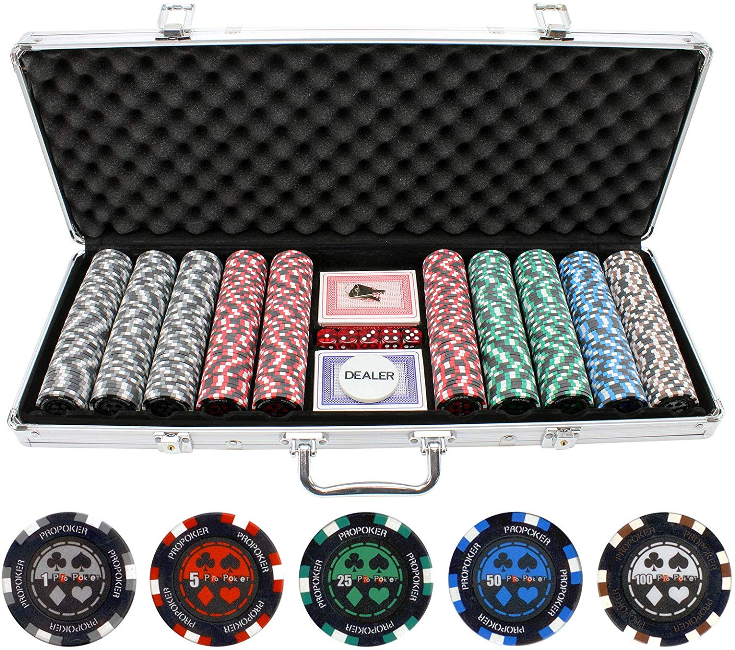 Pro Poker Clay Poker Set from JP Commerce