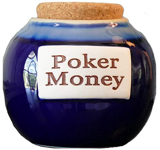 Round Ceramic Poker Money Jar