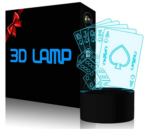 Casino Poker Dice 3D Lamp