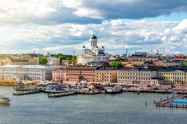 gambling online in finland: Helsinki cityscape and Helsinki Cathedral, Finland